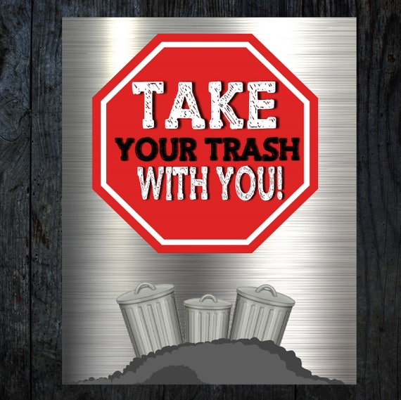 image regarding Trash Sign Printable titled Rubbish Truck Acquire your trash Birthday signal, Rubbish Truck