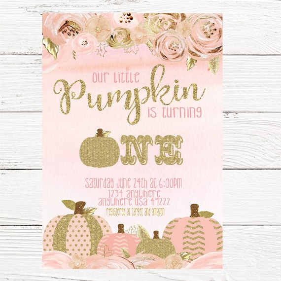 pumpkin invitation first birthday our little pumpkin 1st birthday