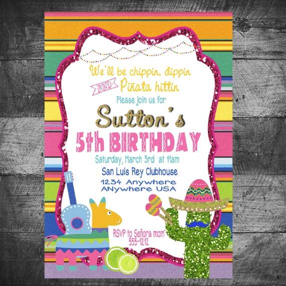 fiesta birthday invitation birthday party invitation fiesta