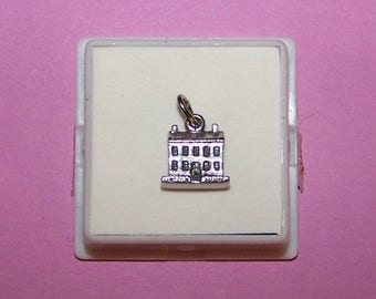 Vintage 3D  LINCOLN HOME Sterling Charm -  Springfield Illinois