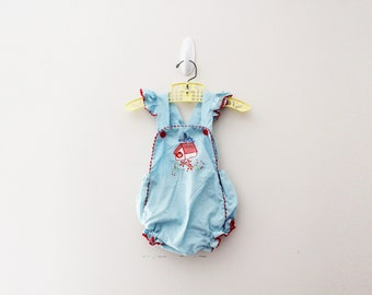 Infant Baby Boys Girls Cotton Long Sleeve Vintage Style Chickadee Silhouette Jumpsuit Romper Funny Printed Romper Clothes