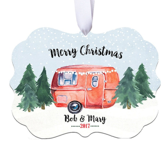 Baptism Ornament Christmas Ornament By Ryellecreations On Etsy: Camping Ornament Personalized Camping Ornament Camper