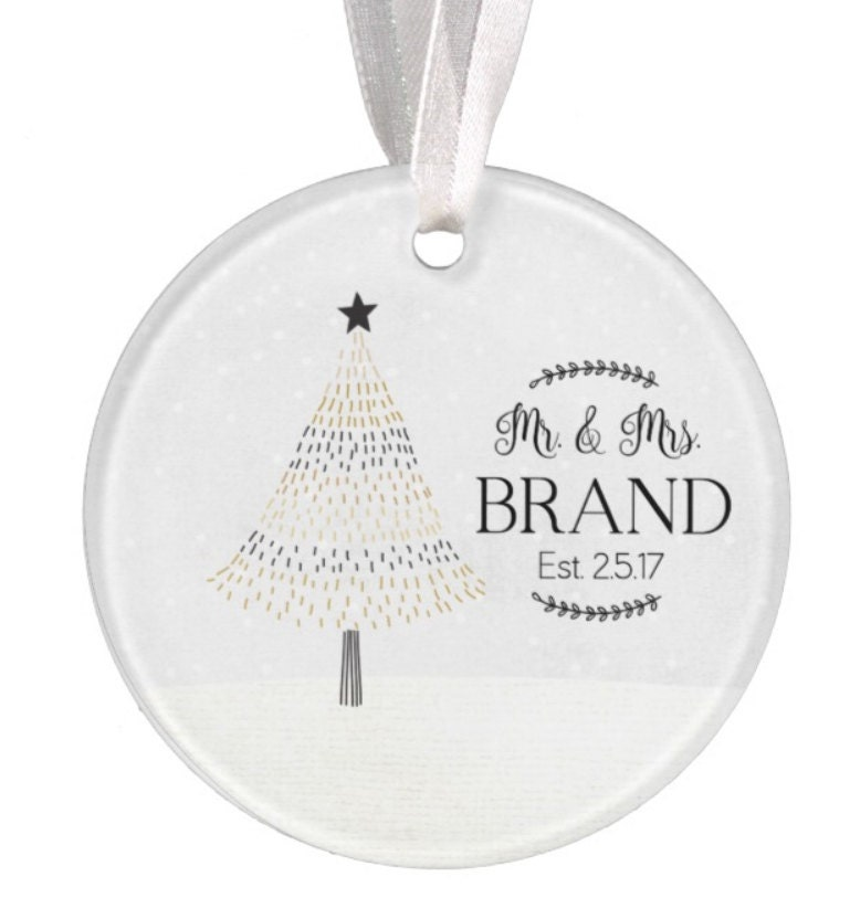 Wedding Ornament Christmas Ornament Personalized Wedding ...