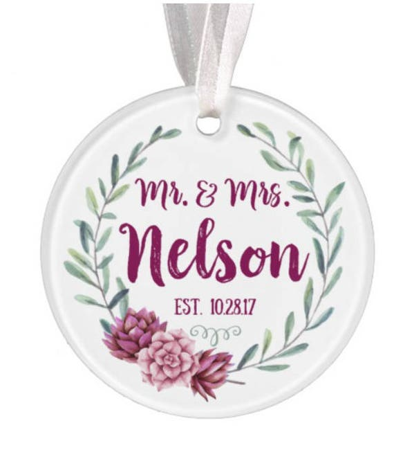 Baptism Ornament Christmas Ornament By Ryellecreations On Etsy: Watercolor Wedding Ornament Christmas Ornament