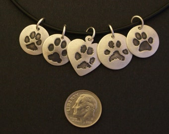 Reserved listing for Brittany (Custom Paw Print Necklace)