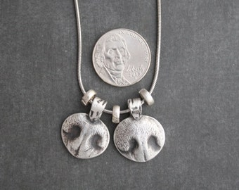 Reserved Listing for Hope (3 Small nose prints necklace) - Dog Nose Print Necklace, Custom Nose Print Jewelry