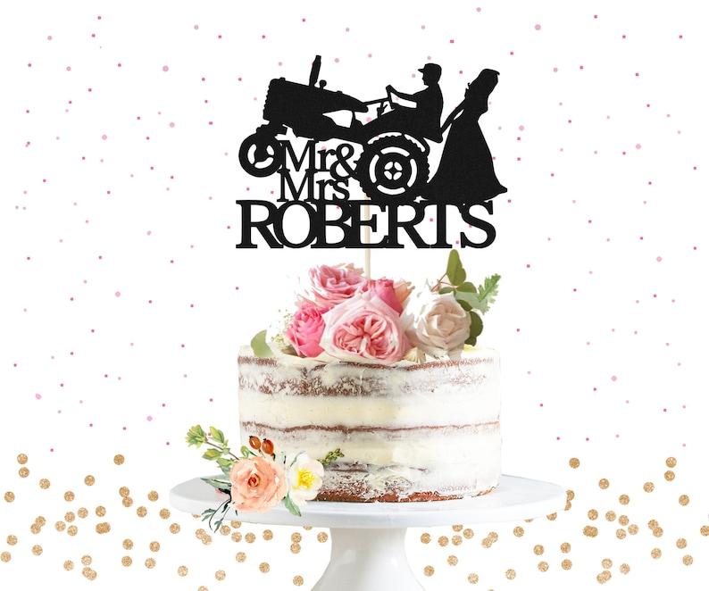 Custom Cake Topper Paillettes Tout Nom Mot Miss à Mme