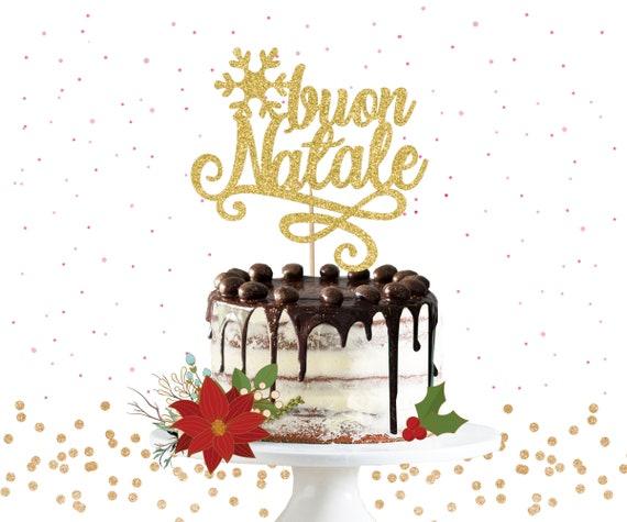 Buon Natale Glitter.Glitter Buon Natale Cake Topper Glitter Cake Topper Etsy