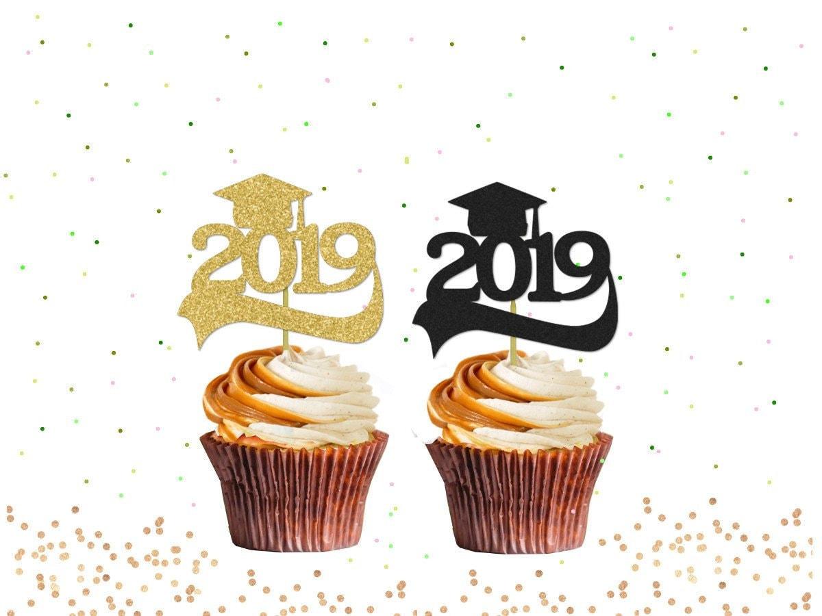 Graduation 2019 Cupcake Toppers Graduation Cupcakes | Etsy