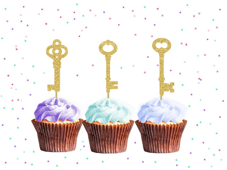 24 House Housewarming Party Decorations Sweet Cupcake Toppers Occasions Gold