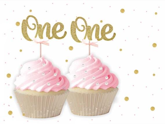 Ein Cupcake Toppers 1 Geburtstag Etsy