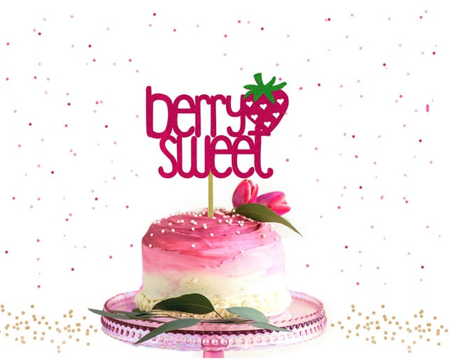 Glitter Berry Sweet Cake Topper