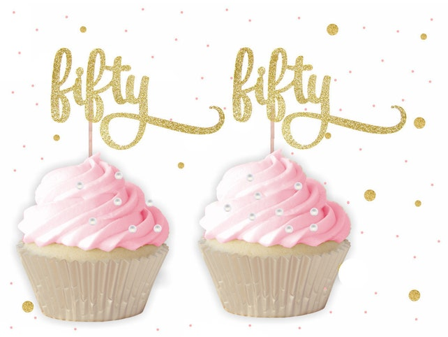 Fifty Cupcake Toppers