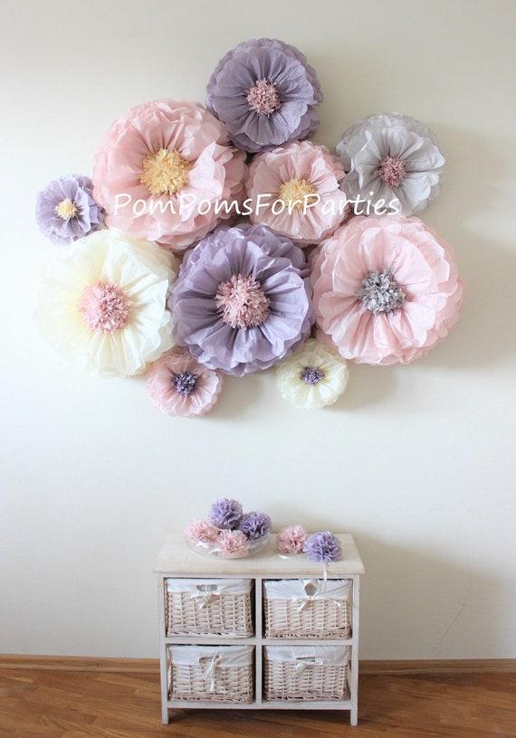 Oversized paper flowers 10 units ash pinkash lilac dusty blush il570xn mightylinksfo