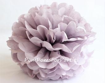 1 High Quality ASH LILAC Tissue Pom Pom - Choose any of 60 colours - Hanging  Paper flower - Tissue paper balls - Tissue paper pom poms