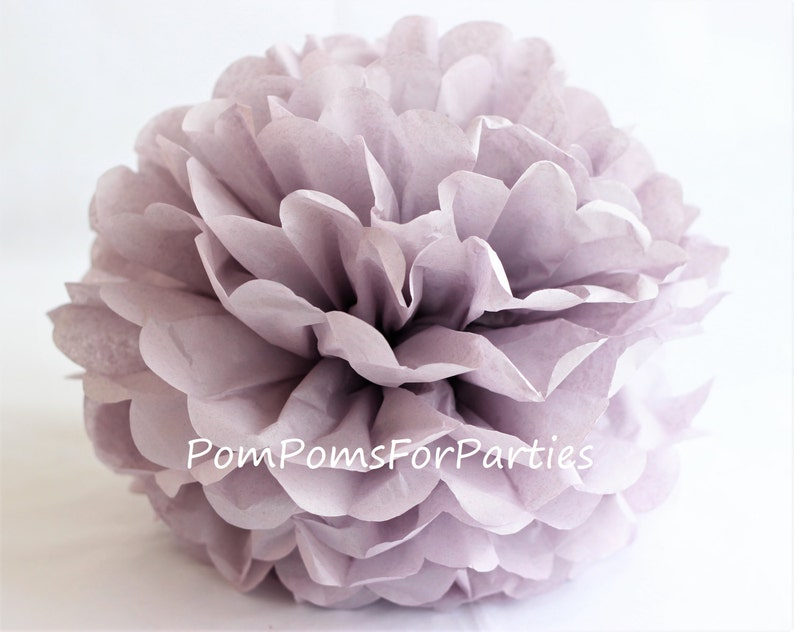 1 High Quality ASH LILAC Tissue Pom Pom  Choose any of 60 image 0