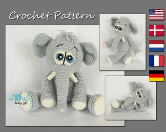 victorian era toy elephant crochet pattern