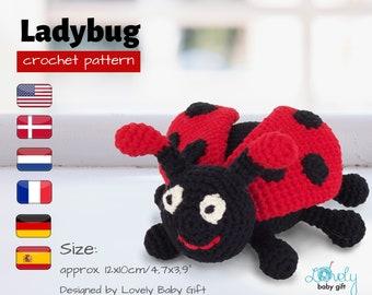 Ladybug amigurumi - Patron PDF | Patron, Crochet, Tricot | 270x340