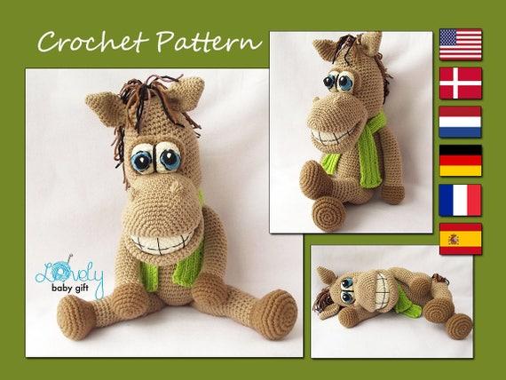 Amigurumi Pattern Horse Crochet Pattern Stuffed Animal Toy Etsy
