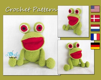 Amigurumi Pattern, Crochet Pattern, Frog, Animal Pattern Crochet, CP-127
