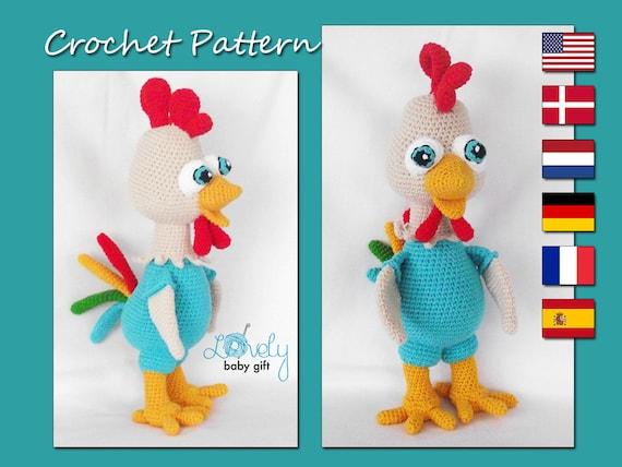 Amigurumi Pattern Rooster Crochet Pattern Amigurumi Animal Etsy