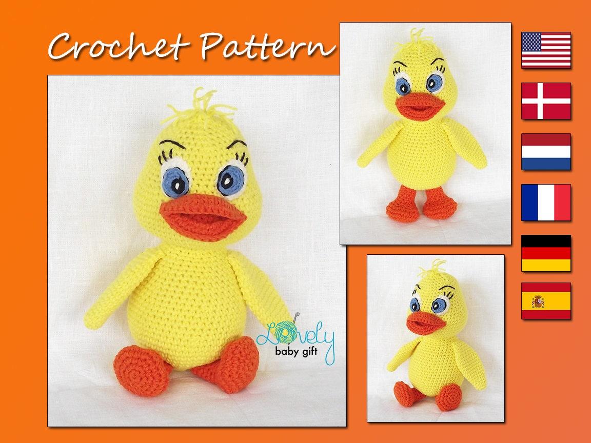 Easter Duck Amigurumi Crochet Pattern Crochet Animal Etsy