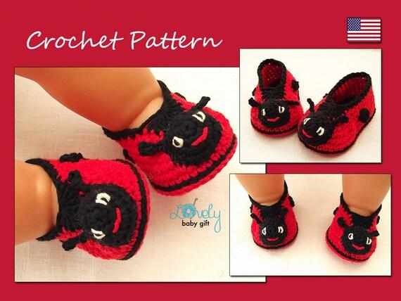 Sie Shoes Etsy Booties Baby Ladybug Muster Häkeln 1tOqdwP1