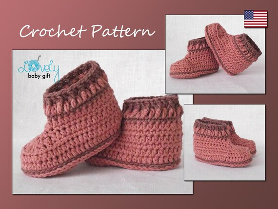 Baby Shoes Crochet Pattern Crochet Bootie Pattern Instant Download Cp 204