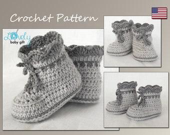 Crochet Pattern, Baby Boots Pattern Crochet, Shoes Crochet Pattern, Baby Booties, CP-203