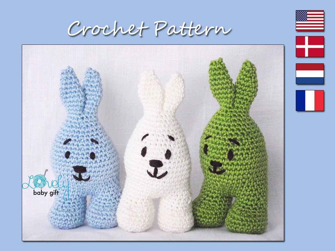 Amigurumi Pattern Crochet Amigurumi Bunny Rabbit Easter Etsy
