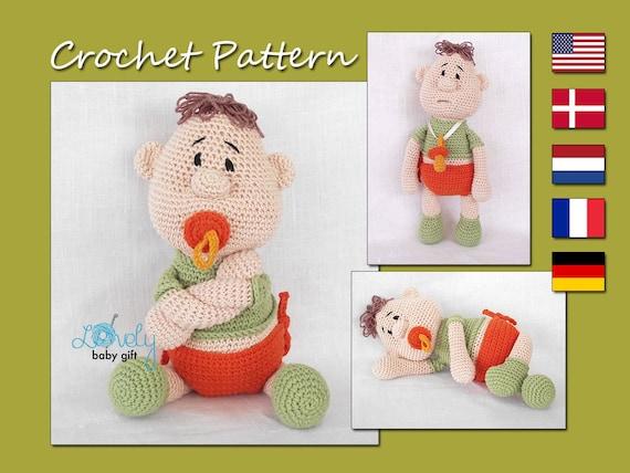 Amigurumi Pattern Doll Crochet Pattern Baby Doll With Etsy