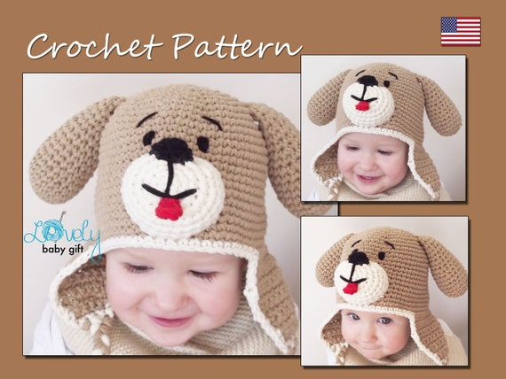 Crochet Hat Pattern Baby Hat Pattern Puppy Dog Hat Crochet  d6262f77154