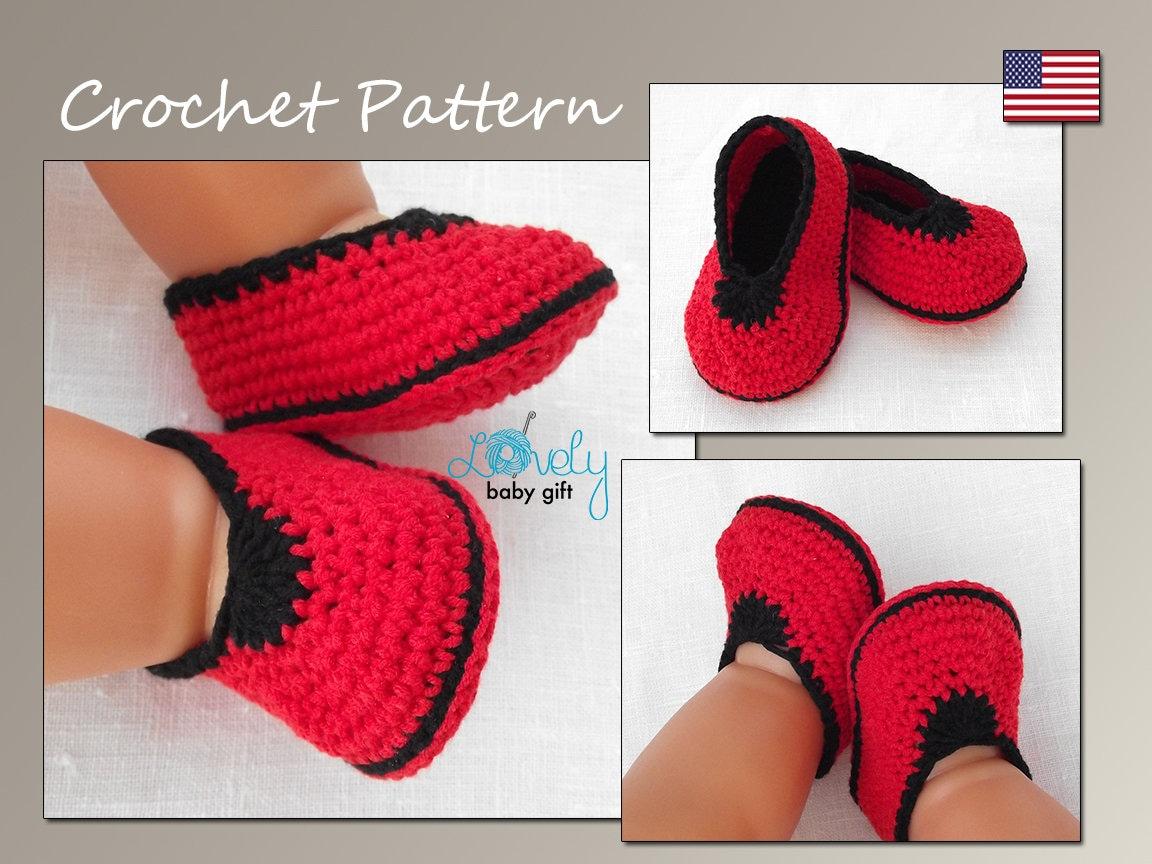 Crochet Baby Shoes Pattern Crochet Baby Slippers Pattern Etsy