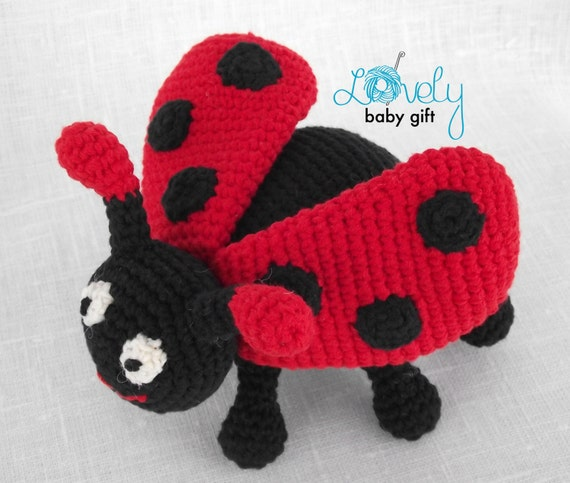 Amigurumi Lady Bug Pattern (Crochet) | Crochet patterns amigurumi ... | 483x570