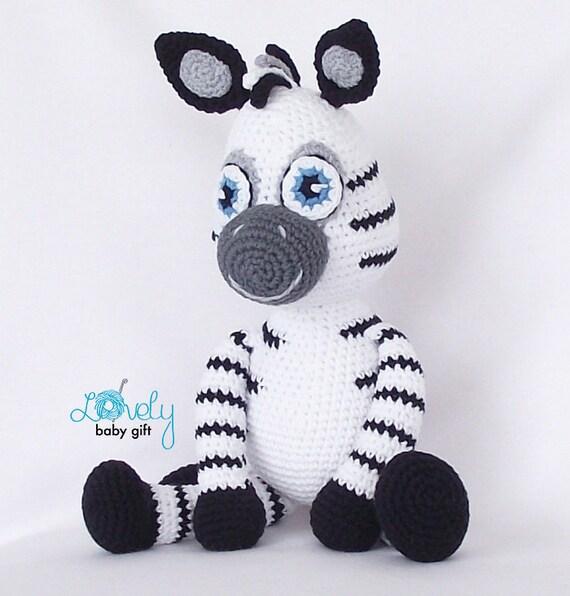Amigurumi Crochet Zebra Pattern PDF - instant download - Zita the ... | 596x570