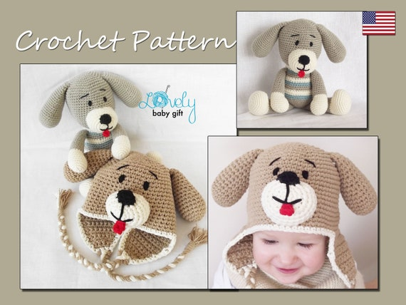 Puppy Dog Hat And Puppy Doll Crochet Patterns Set Crochet Etsy