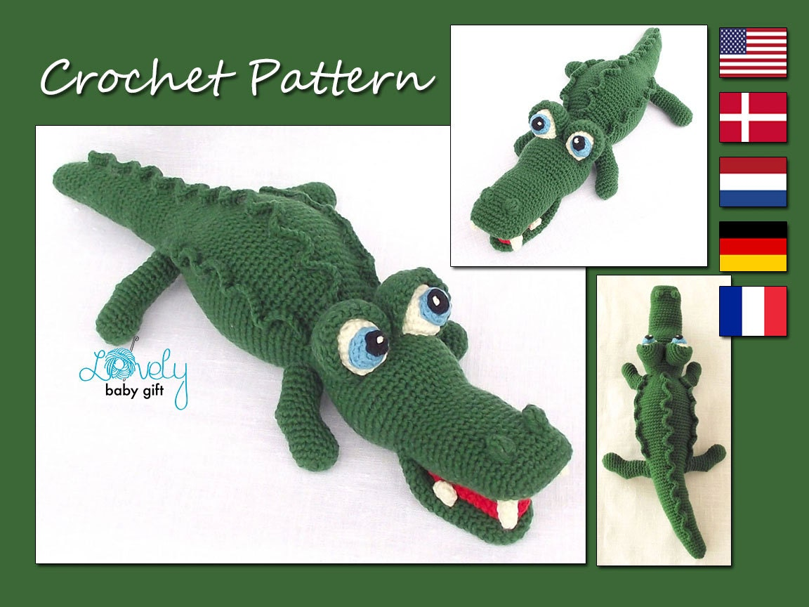 Amigurumi Pattern Crochet Alligator Amigurumi Animal Etsy