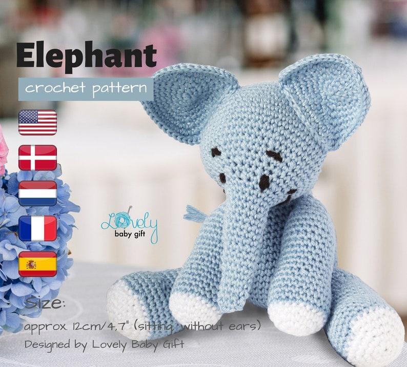 Amigurumi Crochet Pattern  Stuffed Elephant Pattern  Crochet image 0