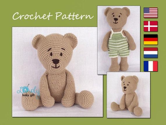 Crochet Pattern Amigurumi Crochet Teddy Bear Pattern Cp 129 Etsy