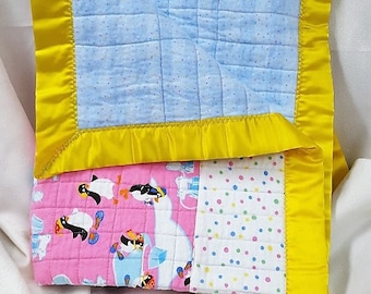 Baby Quilt - Baby Penquins