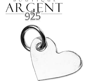 Charm heart 7 X 10 mm Sterling Silver 925 ring