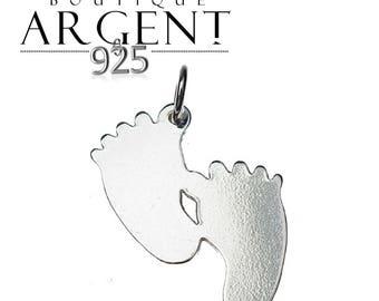 21X19mm silver feet charm 925 Sterling Silver Pendant