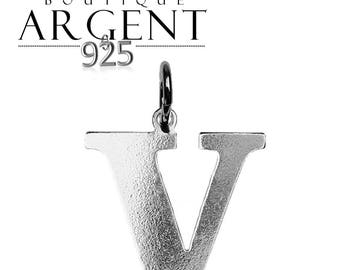 Silver 925 charm letter V initial name
