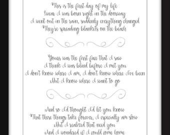 Chet Baker My Funny Valentine Paroles Unframed Imprimer