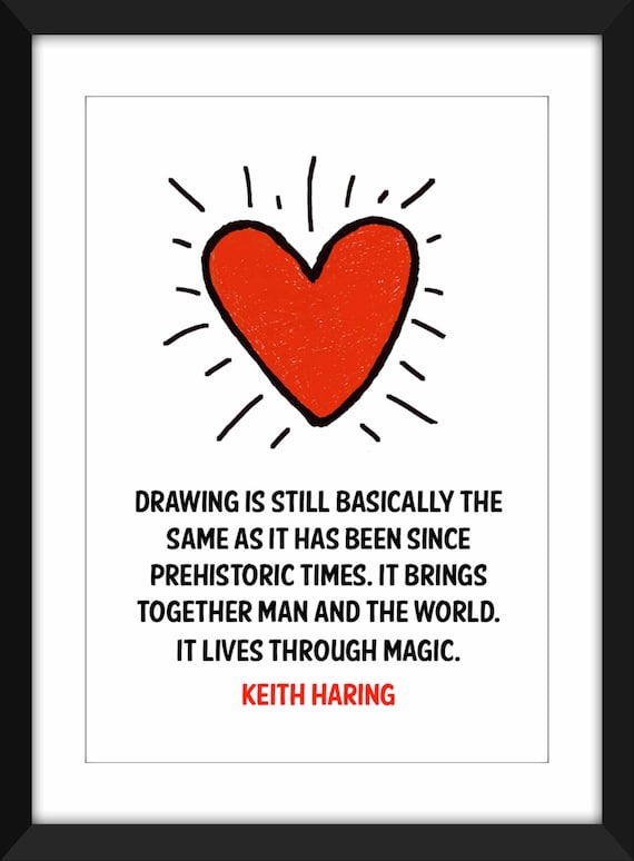 Keith Haring Magic Quote Unframed Art Print