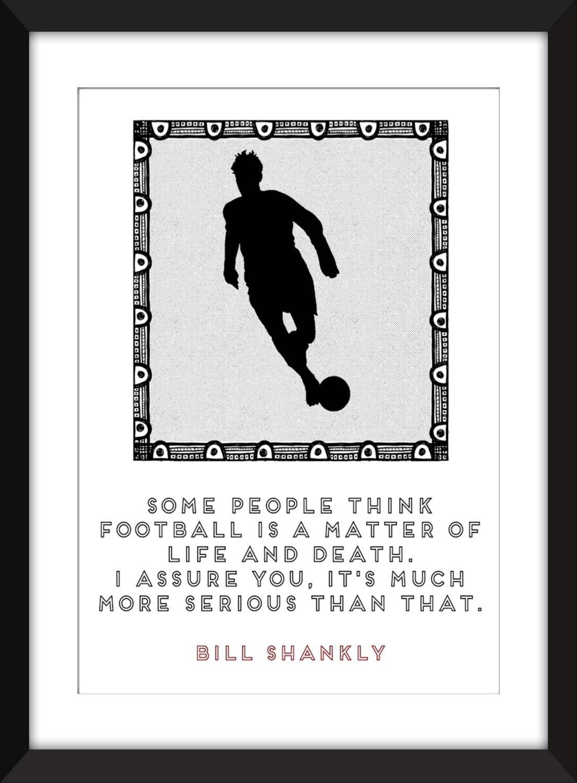 Bill Shankly Leben und Tod Zitat Rahmen | Etsy