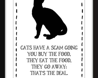 Eddie Izzard Cat Quote Unframed Print