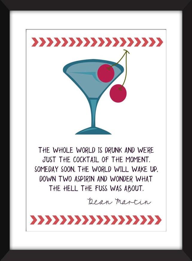 Dean Martin Welt ist betrunken Zitat Rahmen | Etsy