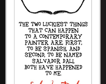 """Salvador Dali """"Luck"""" Quote Unframed Print"""