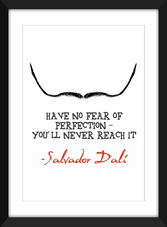 Salvador Dali Perfektion Zitat Rahmen | Etsy